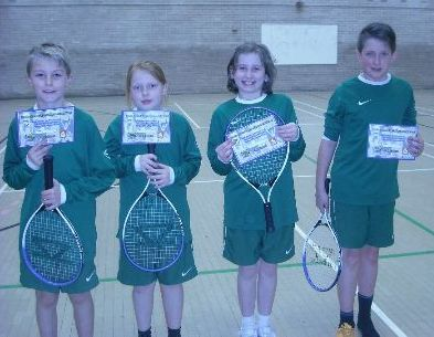 year 5 tennis team